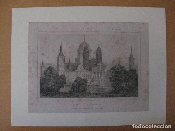 GRABADO PALACIO DE EL ESCORIAL. LENAITRE DIREXIT (Arte - Grabados - Contemporáneos siglo XX)