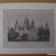 Arte: GRABADO PALACIO DE EL ESCORIAL. LENAITRE DIREXIT. Lote 97793299