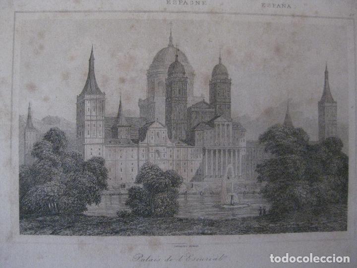 Arte: GRABADO PALACIO DE EL ESCORIAL. LENAITRE DIREXIT - Foto 2 - 97793299