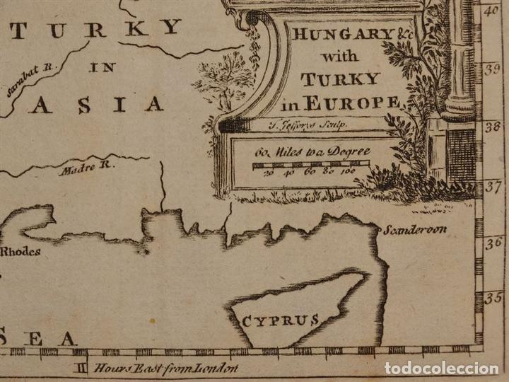 Arte: Mapa de Hungría, Turquía y Grecia, circa 1780. Thomas Jefferys - Foto 3 - 98134335