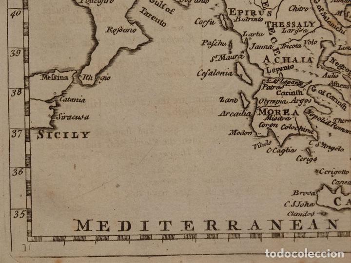Arte: Mapa de Hungría, Turquía y Grecia, circa 1780. Thomas Jefferys - Foto 5 - 98134335