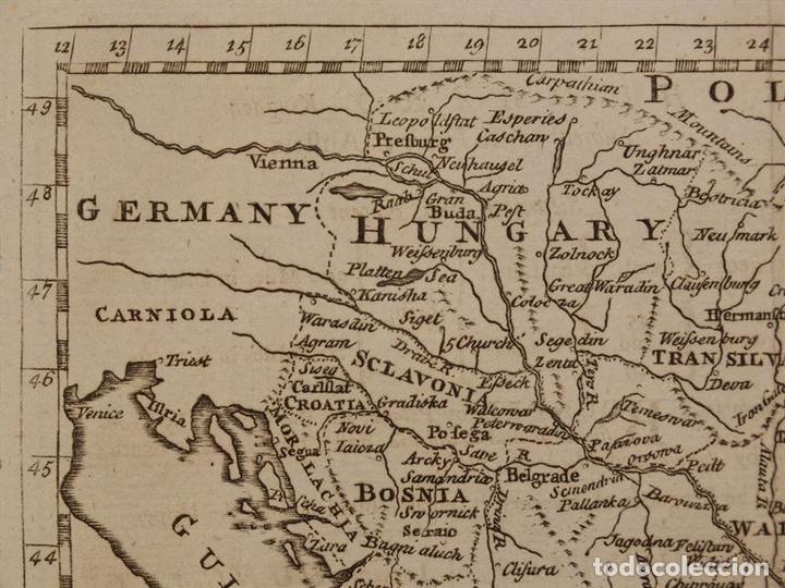 Arte: Mapa de Hungría, Turquía y Grecia, circa 1780. Thomas Jefferys - Foto 6 - 98134335