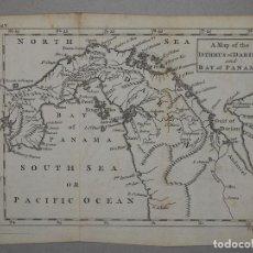 Arte: MAPA DEL ISTMO Y LA BAHÍA DE PANAMÁ (AMÉRICA CENTRAL), 1760. THOMAS JEFFERYS. Lote 98135551