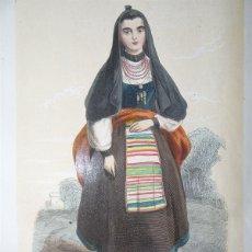 Arte: MUJER DE SALAMANCA (CASTILLA-LEÓN, ESPAÑA), 1848. MANUEL DE CUENDIAS/ VICTOR FÉRÉAL. Lote 98136227