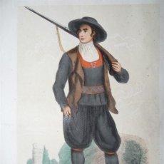 Arte: HOMBRE CON TRAJE TÍPICO DE ASTORGA (LEÓN,ESPAÑA), 1848. MANUEL CUENDIAS /VICTOR FÉRÉAL. Lote 98136823