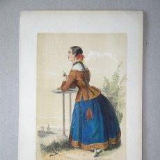 Arte: JOVEN DE SEGOVIA (CASTILLA, ESPAÑA), 1848. MANUEL CUENDIAS/ VICTOR FÉRÉAL. Lote 98136995