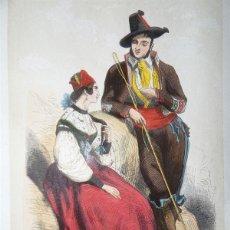 Arte: CALESERO Y JOVEN DE VALLADOLID ( CASTILLA, ESPAÑA), 1848. MANUEL CUENDIAS /VICTOR FÉRÉAL. Lote 98137339