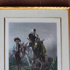 Arte: GRABADO ANTIGUO. THE WAY-SIDE IN ANDALUSIA. FROM THE PICTURE IN THE COLLECTION OF ROBERT RAWLINSON. . Lote 98238075