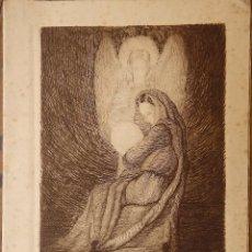 Arte: PRECIOSO GRABADO REALIZADO EN 1950 POR EL PINTOR SEVILLANO MANUEL FLORES PEREZ, LEER DATOS. Lote 98383811