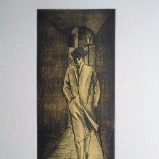 Dis Berlin, Mariano Carrera Blázquez (Ciria, Soria 1959), grabado 10x22,5 papel 31x28 firmado 98/175