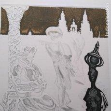 Arte: LAMINA GRABADO DE A.COSTA 43 DE 150 TROQUELADO ARTISTA GALLEGO. Lote 98704163