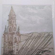 Arte: LAMINA GRABADO DE PESTANA 43 DE 150 ARTISTA GALLEGO. Lote 98704663