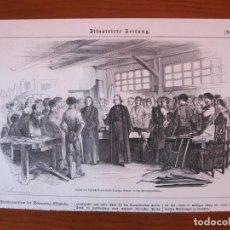 Arte: REUNIÓN LABORAL CIVIL Y RELIGIOSA, 1859. Lote 98789779