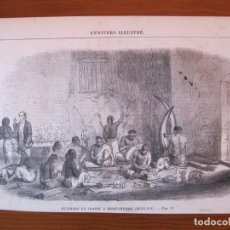 Arte: TRABAJADORES DE MARFIL EN BERHAMPUR (BENGALA, INDIA, ASIA), 1859. Lote 98790843