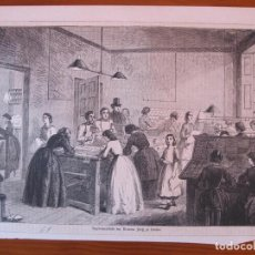 Arte: VISTA DE UN TALLER DE LONDRES, 1861. Lote 98791767