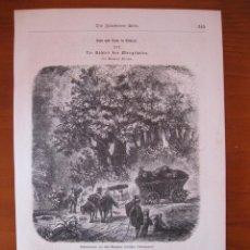 Arte: CAMINANTES POR EL BOSQUE, 1862.. Lote 98792271