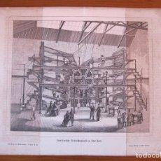 Arte: VISTA DE UNA GRAN MÁQUINA AMERICANA EN NUEVA YORK (ESTADOS UNIDOS, AMÉRICA), 1864. Lote 98792747