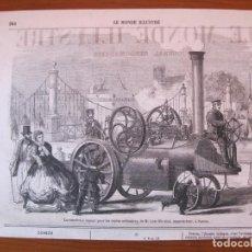 Arte: LOCOMOTORA A VAPOR FRANCESA, 1864. Lote 98793283