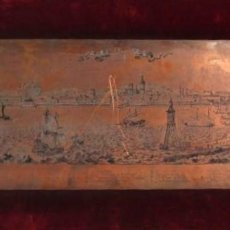 Arte: ADAM PERELLE (1640–1695), GRABADO SOBRE COBRE 50 X 19 CM, BARCELONA, CAPITAL DE CATALUNYA. FIRMADO.. Lote 98821211