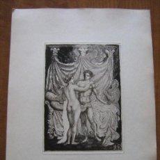 Arte: GRABADO ORIGINAL MITOLOGIA - SIGLO XIX. Lote 99201303