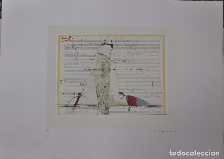 LUCIO MUÑOZ - SERIGRAFIA GOFRADO - FIRMADO Y NUMERADO (Arte - Grabados - Contemporáneos siglo XX)