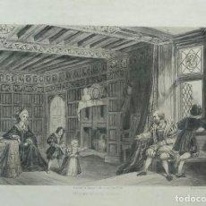Arte: AGUAFUERTE DE ESCENA FAMILIAR. LONDRES 1846. Lote 99514779