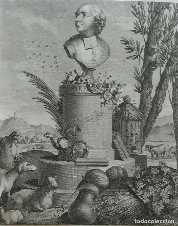 AGUAFUERTE. RETRATO JEAN-BAPTISTE FRANCOIS ROSIER. AÑO 1795 (Arte - Grabados - Antiguos hasta el siglo XVIII)