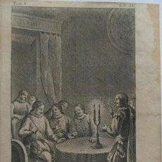 Arte: AGUAFUERTE DE FRANCISCO MONTANER. ESCENA DE NOBLES CRUZADOS. AÑO 1787. Lote 99556747