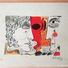 Arte: OBRA FIRMADA ALCOY 72 --- EDUARD ALCOY I LÁZARO ( 1930 - 1987 ). Lote 99666311
