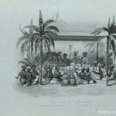Arte: LOTE DE 6 GRABADOS SOBRE COSTUMBRES DE CIVILIZACIONES DESCONOCIDAS. AÑO 1846. Lote 99667127