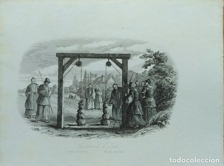 Arte: Lote de 6 grabados sobre costumbres de civilizaciones desconocidas. Año 1846 - Foto 5 - 99667127