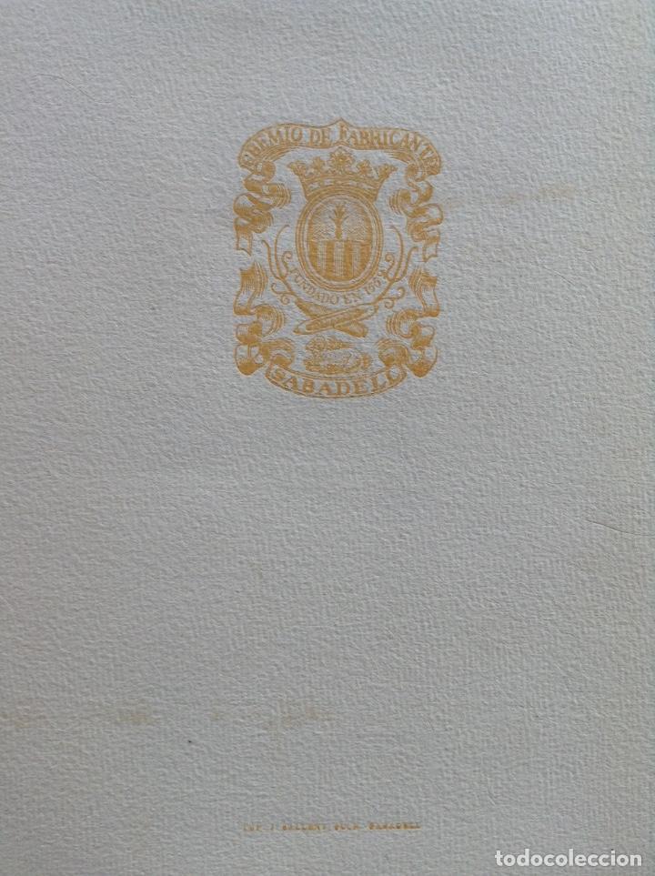 Arte: IV CENTENARIO DEL GREMIO DE FABRICANTES DE SABADELL CONTIENE 12 GRABADOS DE OFICIOS - Foto 6 - 99877959