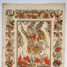 Arte: GRABADO SAN MIGUEL ARCANGEL, FINALES DEL S. XVIII. 31X43,5CM. Lote 100495955