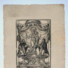 Arte: GRABADO NUESTRA SEÑORA DEL ROSARIO, FINALES DEL S. XVIII. 30X40,5CM. Lote 100496975