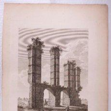Arte: MÉRIDA, PARTE DE LOS AQUEDUCTOS, GRABADO S.XIX. 41X54,5 CM. A. DE LABORDE.. Lote 100739239