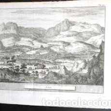 Arte: GRABADO ANTIGUO DE LOJA GRANADA 1714 ORIGINAL CERTIFICADO. GRABADOS ANTIGUOS LOJA GRANADA. Lote 26631407