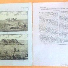 Arte: GRABADO ANTIGUO DE GIBRALTAR 1795 ORIGINAL CERTIFICADO. GRABADOS ANTIGUOS GIBRALTAR. Lote 27118120