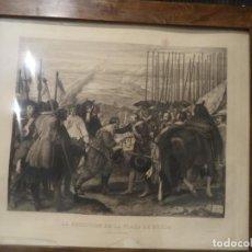 Arte: GRABADO ANTIGUO 1876 LA RENDICION DE BREDA IMPORTANTE GRABADO. Lote 101239003