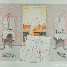 Arte: FRANCESC ARTIGAU (BARCELONA,1940) GRABADO HC VISTA HABITACIÓN DIBUJANTE FIRMADO Y FECHADO A LÁPIZ 88. Lote 101555635
