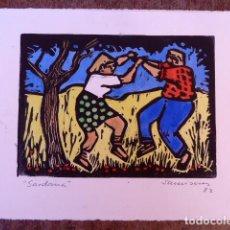 Arte: GRABADO RAMÓN SANVISENS.SARDANES.1982. Lote 101787435