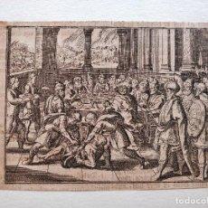 Arte: MARAVILLOSO GRABADO ORIGINAL DE FINALES DEL SIGLO XVI, TORTURA DE UN PRISIONERO. Lote 101853451