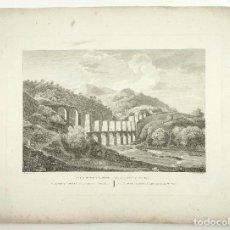 Arte: PUENTE DEL LLADONER, VALLIRANA. PROV. BARCELONA, GRABADO PRINCIPIOS S.XIX. 41X55 CM.. Lote 101897763