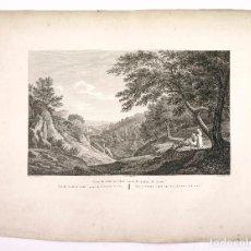 Arte: VISTA DE PORTA COELI, CARTUJA. PROV. DE VALENCIA, GRABADO PRINCIPIOS S.XIX. 41X54 CM.. Lote 101900451