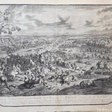 Arte: BATALLA DE MALPLAQUET, 1709, JAN VAN HUCHTENBURG, 1727 - 1729, GRABADO.. Lote 101901403