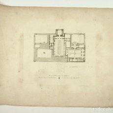 Arte: ALHAMBRA, PLANO DEL ALCAZAR, GRABADO PRINCIPIOS S.XIX. 42X55 CM . Lote 101924603