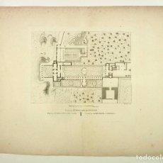 Arte: PLANO DEL GENERALIFE DE GRANADA, GRABADO PRINCIPIOS S.XIX. TAMAÑO PAPEL: 41X55CM.. Lote 101925499