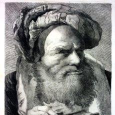 Arte: RETRATO DE ANCIANO. AGUAFUERTE. GIAMBATTISTA TIEPOLO. VENETIIS CALC. MAGNA.VENECIA. SIGLO XVIII. Lote 101995895