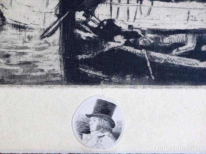 Arte: GRABADO ANÓNIMO: BARCOS PESQUEROS, AÑOS 70 - Foto 2 - 235818855