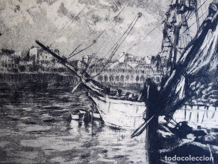 Arte: GRABADO ANÓNIMO: BARCOS PESQUEROS, AÑOS 70 - Foto 3 - 235818855