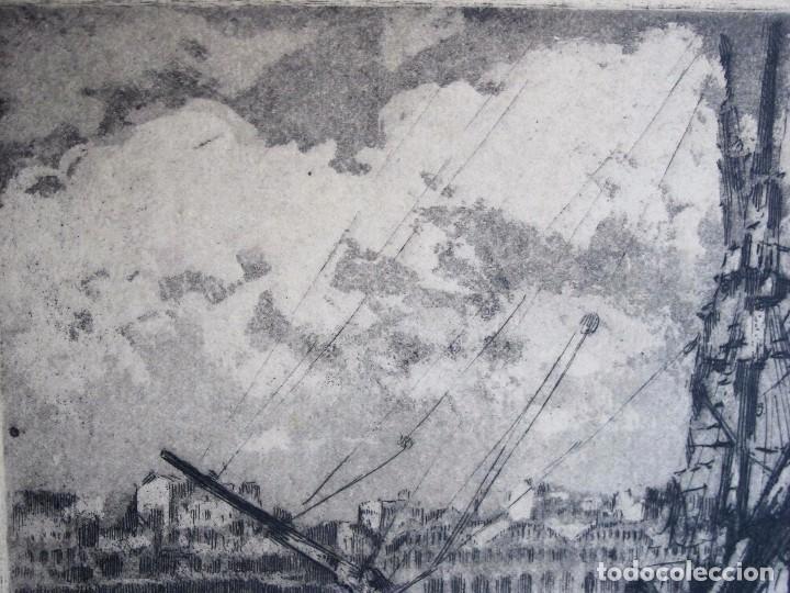 Arte: GRABADO ANÓNIMO: BARCOS PESQUEROS, AÑOS 70 - Foto 6 - 235818855